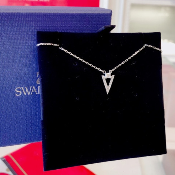 Swarovski Jewelry - FUNK NECKLACE, SMALL, WHITE, RHODIUM PLATING